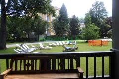 Kurgarten Bad Reichenhall Blick vom Gradierwerk